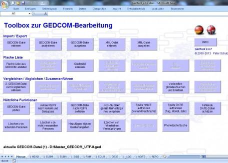 GedTool - der Werkzeugkasten für GEDCOM-Dateien