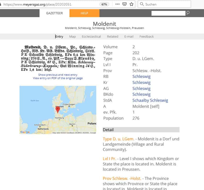 Meyers Gazetteer und Geschichtliches Ortsverzeichnis GOV - eine Gegenüberstellung