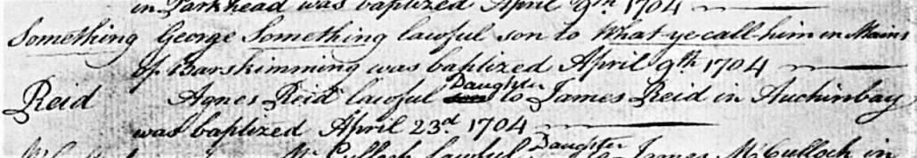 """Getauft wurde """"Irgendein George"""", der Vater war """"Wie-hieß-er-noch"""""""