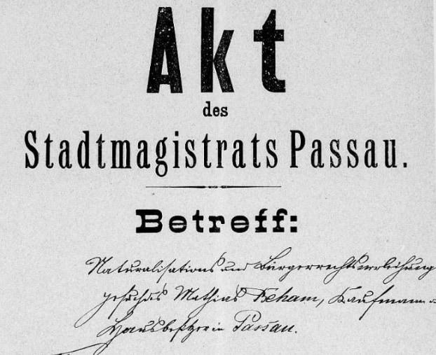 Stadtarchiv Passau: Neue Digitalisate bei FamilySearch