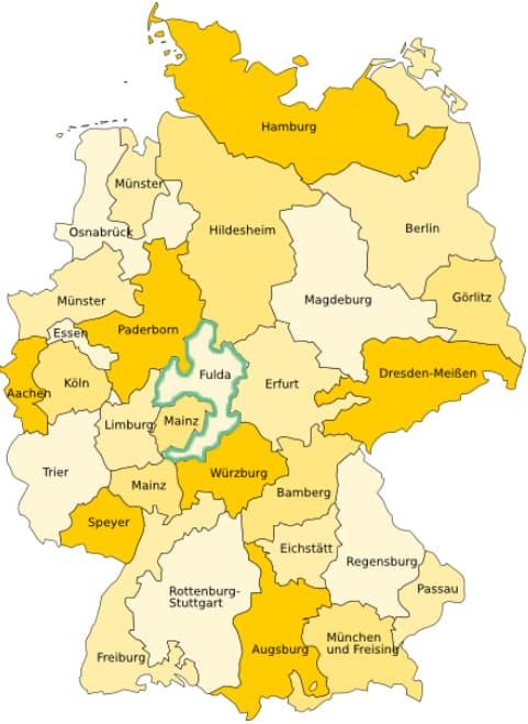 Kirchenbücher des Bistums Fulda bei Matricula