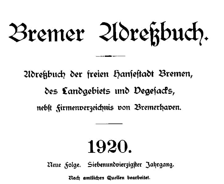 Neues von alten Adressbüchern und Polizeiblättern