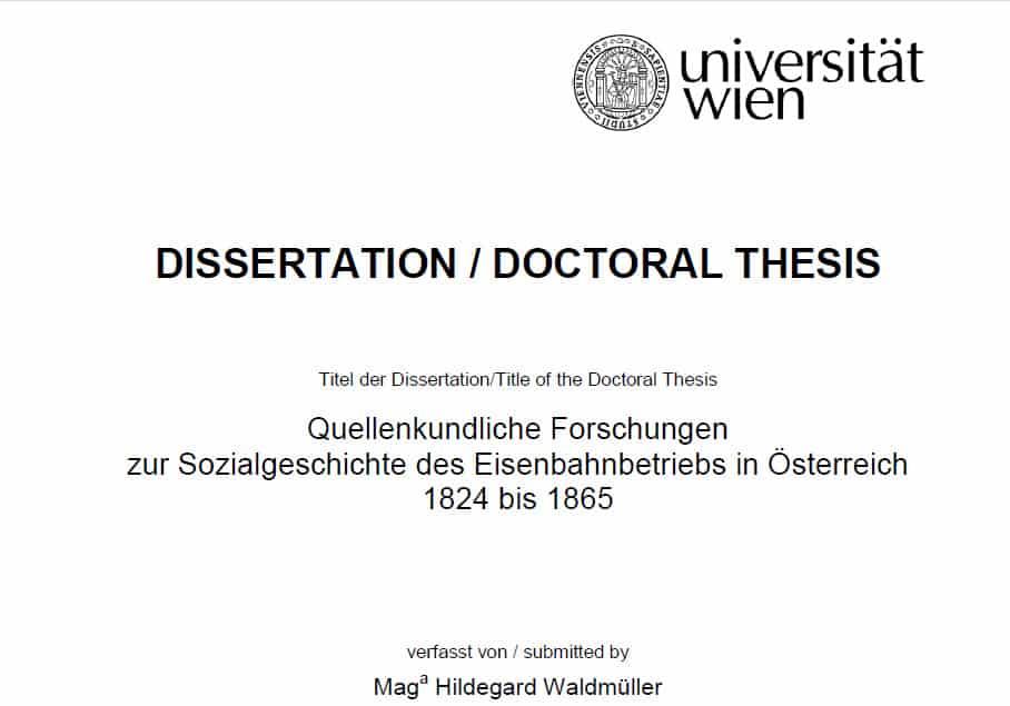 Eisenbahnen in Österreich: Dissertation zur Sozialgeschichte
