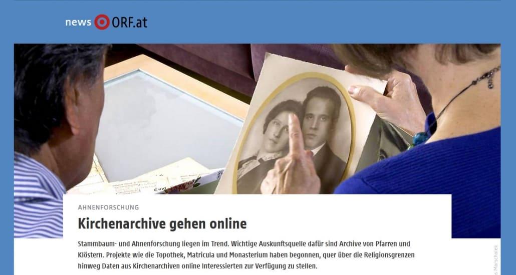 Auf Ahnensuche in österreichischen Kirchenarchiven