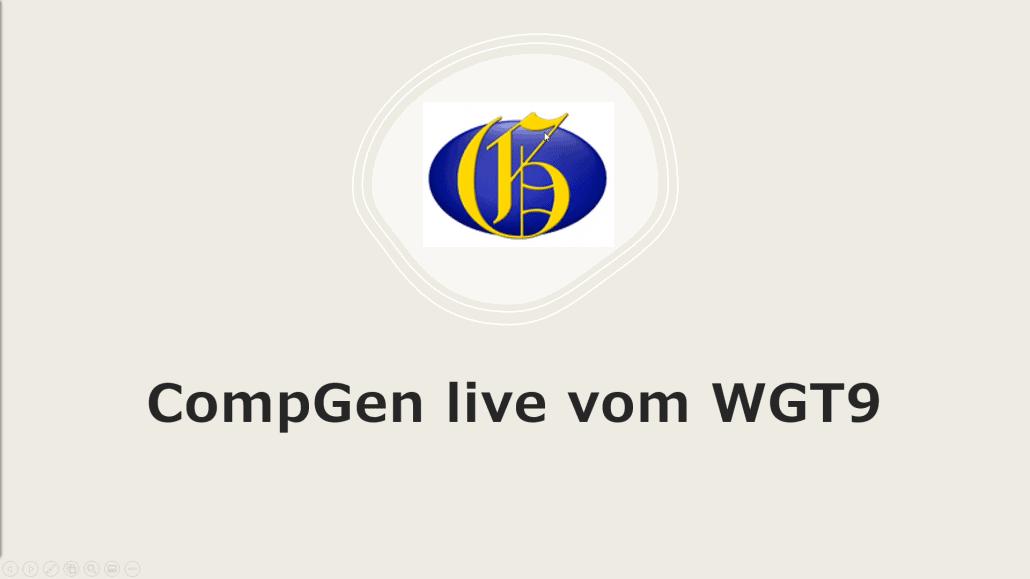 CompGen live vom WGT9