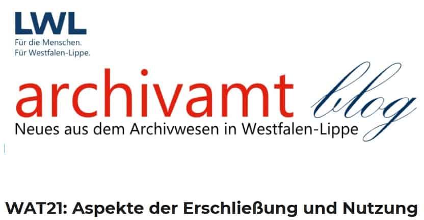 72. Westfälischer Archivtag am 17./18. März 2021 online