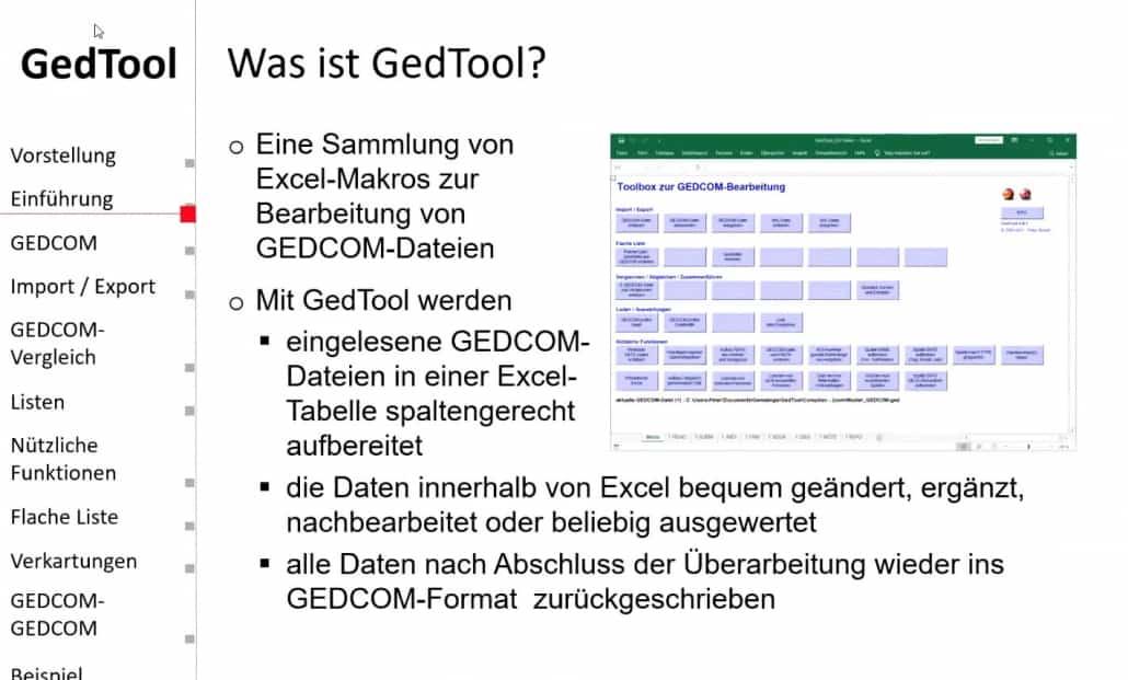 Was ist GedTool - der Vortrag steht nun online