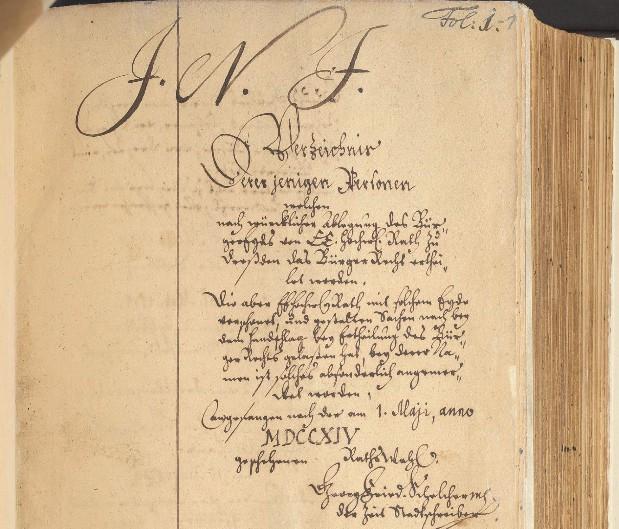 Dresdener Bürgerbuch  1714-1769 online