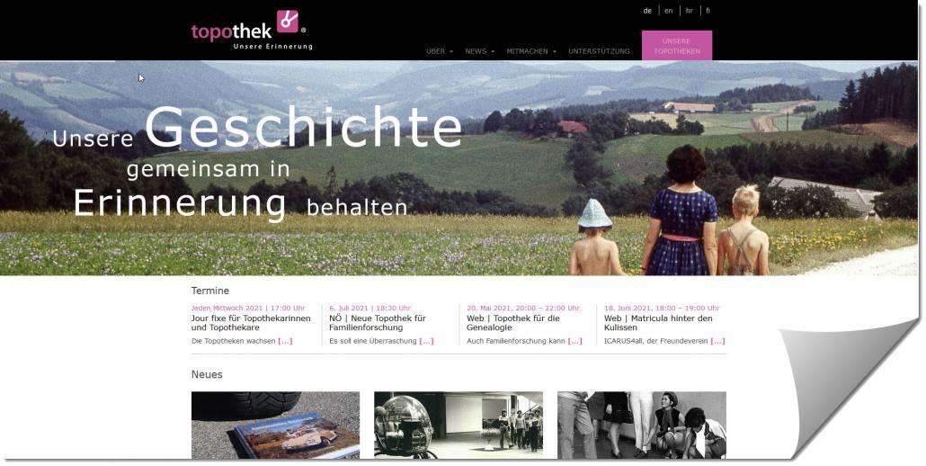 Startseite von Topothek