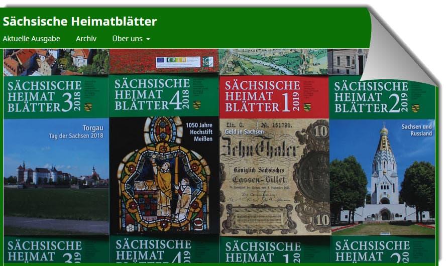 """Open Access für die Regional- und Landesgeschichte – """"Sächsische Heimatblätter"""" online"""