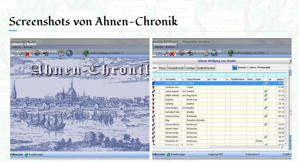 CompGen Online-Meeting zum Genealogie-Programm Ahnen-Chronik