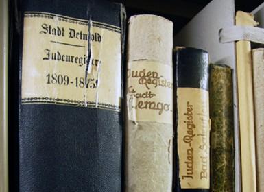 Juden- und Dissidentenregistern von Westfalen und Lippe, hier die Judenregister aus Detmold und Lemgo