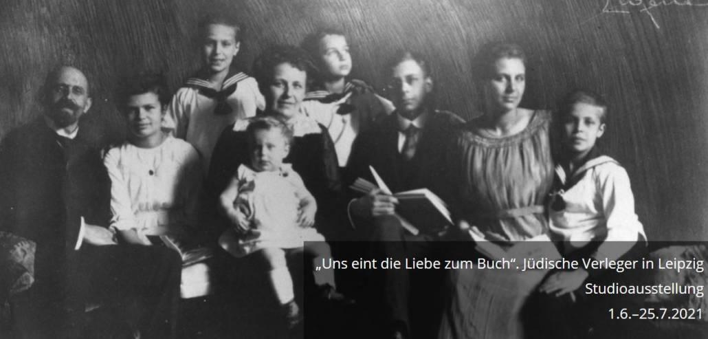 Porträt der Familie von Henri Hinrichsen, einem der Jüdischen Verleger in Leipzig