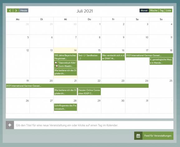 Wochenvorschau: Genealogische Online-Veranstaltungen – KW 29