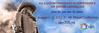 Plakat der 41. IAJGS Internationalen Konferenz für Jüdische Genealogie