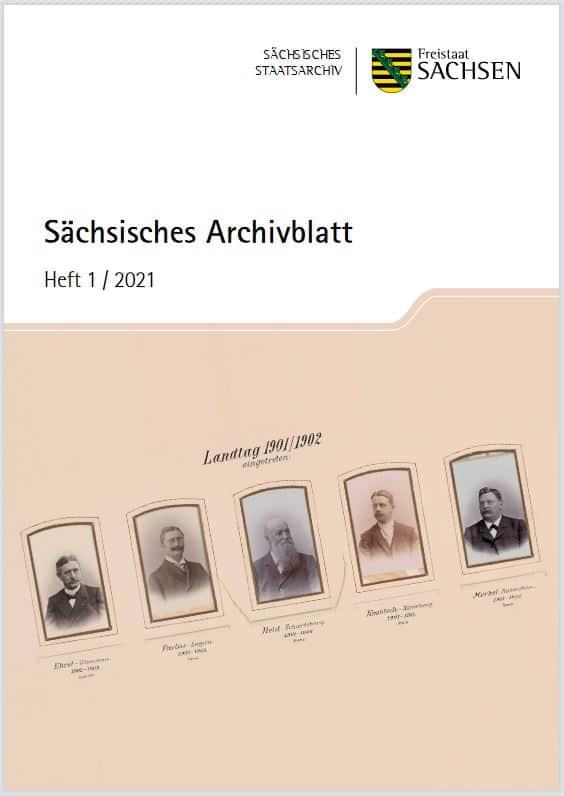 Sächsisches Archivblatt Heft1/2021 Titel