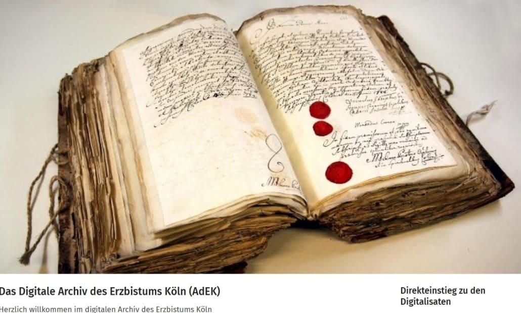 Website: Das Digitale Archiv des Erzbistums Köln
