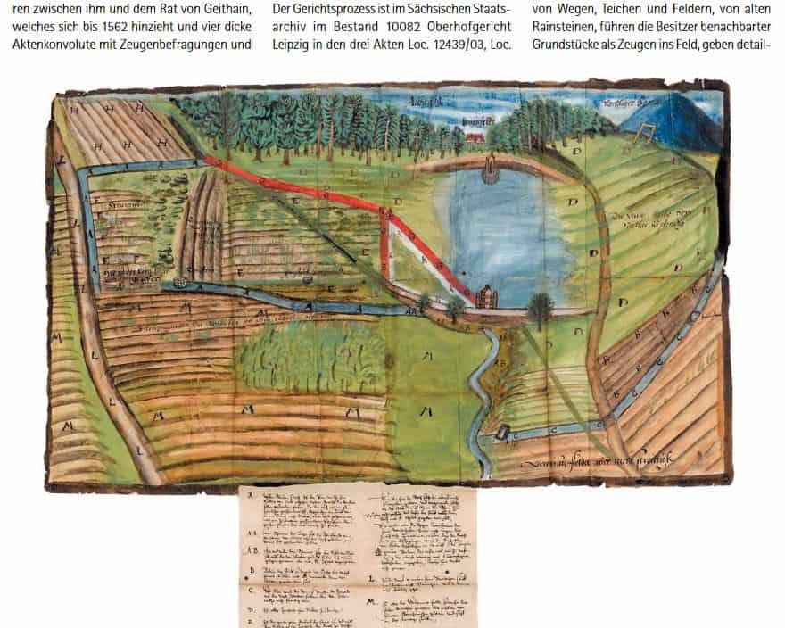Eine 450 Jahre alte Streitkarte ist eines der Themen im Sächsischen Archivblatt 1/2021