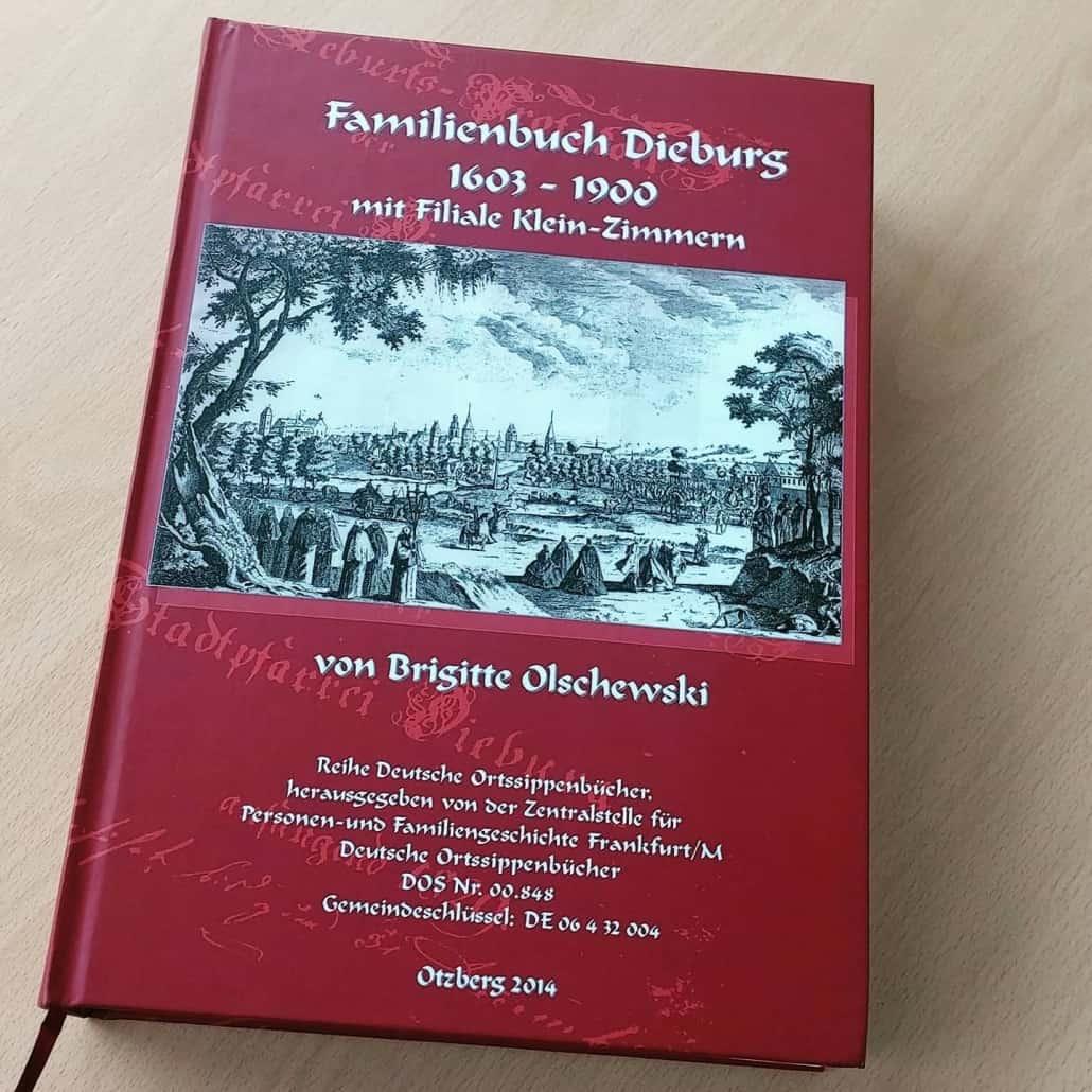Cover des Ortsfamilienbuchs zu Dieburg