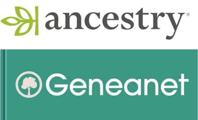 Logos von Ancestry und Geneanet