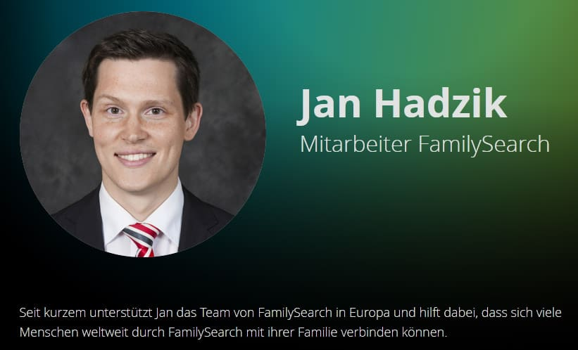 Jan Hadzik, Mitarbeiter bei FamilySearch, lädt ein, Beiträge für die RootsTech 2022 vorzuschlagen