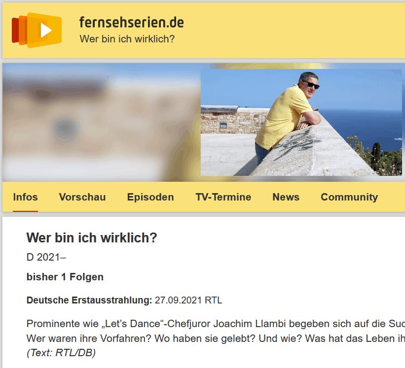 """Ankündigung der RTL-Serie """"Wer bin ich wirklich?"""""""