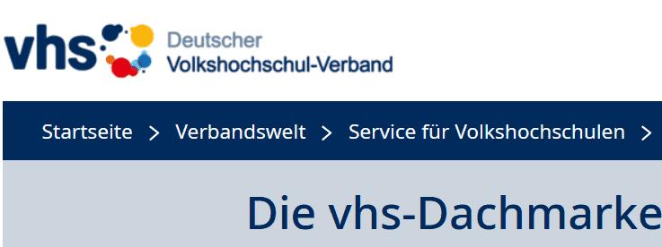 """Die Volkshochschulen (VHS) in Deutschland - unter der Dachmarke """"Deutscher Volkshochschul-Verband"""""""