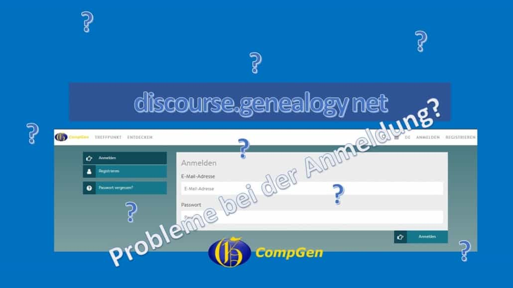 Tipps zu discourse.genealogy.net: Probleme bei der Anmeldung?