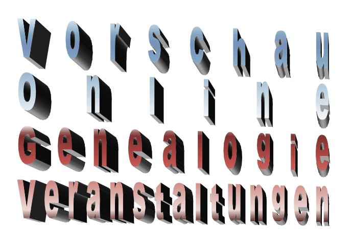 Vorschau Online-Genealogie-Veranstaltungen, hier in der KW 42