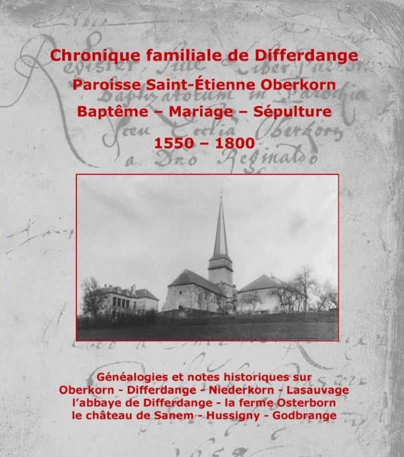 Familienchronik von Differdingen - Pfarrei Oberkorn